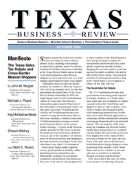 Texas Sales Tax >> Manifiesto The Texas Sales Tax Rebate And Cross Border Mexican Shoppers