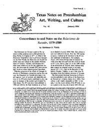 Concordance to and Notes on the Relaciones de Yucatan, 1579-1580