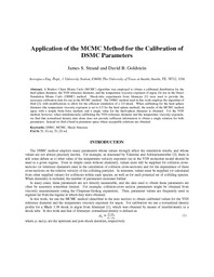 Application Of The MCMC Method For The Calibration Of DSMC