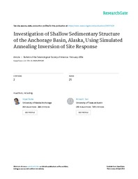 Investigation of Shallow Sedimentary Structure of the Anchorage