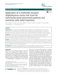 Application of a Methicillin-Resistant Staphylococcus Aureus Risk