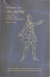 Handbook for One-Act Play Directors, Judges and Contest Managers