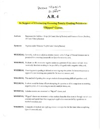 2017-2018) Assembly Resolution 4: In Support of Eliminating