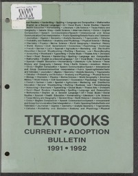 Texas Adopted Textbook List